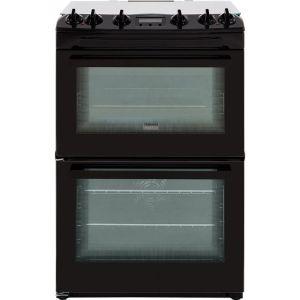 Zanussi ZCK66350BA 60cm Dual Fuel Cooker - Black - A/A Rated