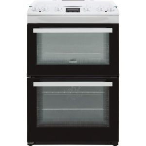 Zanussi ZCK66350WA 60cm Dual Fuel Cooker - White - A/A Rated