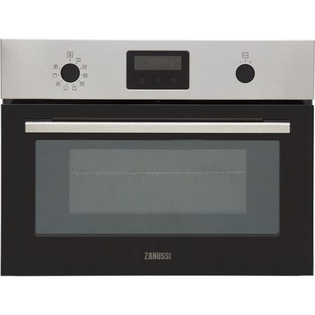 Zanussi ZVENM6X1 Built In Compact Electric Single Oven with Microwave Function - Stainless Steel