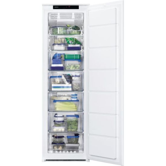 Zanussi ZUNN18FS1 Integrated Frost Free Upright Freezer with Sliding Door Fixing Kit - A+ Rated