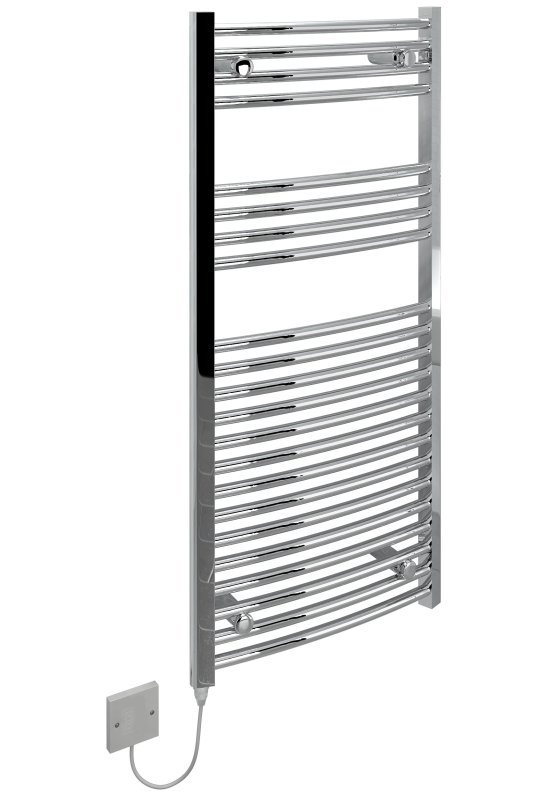 """Kudox 250W Standard Electric Curved Towel Rail - Chrome - KTR250STDCHR Kudox Heating Kudox 250W Standard Electric Curved Towel Rail - Chrome - KTR250STDCHR Shop The Very Best Air Con Deals Online at <a href=""""http://Appliance-Deals.com"""">Appliance-Deals.com</a>"""