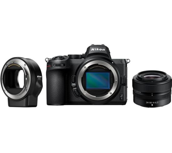 """NIKON Z 5 Mirrorless Camera with NIKKOR Z 24-50 mm f/4-6.3 Lens & FTZ Mount Adapter - Black, Black Currys Cameras NIKON Z 5 Mirrorless Camera with NIKKOR Z 24-50 mm f/4-6.3 Lens & FTZ Mount Adapter - Black, Black Shop The Very Best Deals Online at <a href=""""http://Appliance-Deals.com"""">Appliance-Deals.com</a> <a href=""""https://www.awin1.com/cread.php?awinmid=19526&awinaffid=792795&ued=https%3A%2F%2Fao.com""""><img class="""" wp-image-9780000159235 aligncenter"""" src=""""https://appliance-deals.com/wp-content/uploads/2021/02/ao-new.jpg"""" alt=""""Appliance Deals"""" width=""""112"""" height=""""112"""" /></a> <a href=""""https://www.awin1.com/cread.php?awinmid=19526&awinaffid=792795&ued=https%3A%2F%2Fao.com""""><img class="""" wp-image-9780000159235 aligncenter"""" src=""""https://appliance-deals.com/wp-content/uploads/2021/03/curryspcworld_500x500_thumb.png"""" alt=""""Appliance Deals"""" width=""""112"""" height=""""112"""" /></a>"""