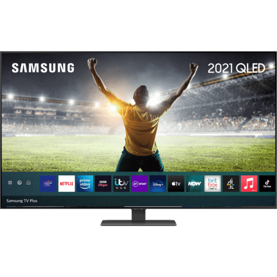 """Samsung QLED QE65Q80AA 65"""" Smart 4K Ultra HD TV With 100% Colour Volume, With Quantum Processor 4K and Apple TV App AO Samsung TV Samsung QLED QE65Q80AA 65"""" Smart 4K Ultra HD TV With 100% Colour Volume, With Quantum Processor 4K and Apple TV App Shop The Very Best TV Deals Online with Fast Delivery and Amazing Offers at <a href=""""http://Appliance-Deals.com"""">Appliance-Deals.com</a> <a href=""""https://www.awin1.com/cread.php?awinmid=1599&awinaffid=792795&ued=https%3A%2F%2Fcurrys.co.uk""""><img class="""" wp-image-9780000159235 aligncenter"""" src=""""https://appliance-deals.com/wp-content/uploads/2021/03/curryspcworld_500x500_thumb.png"""" alt=""""Appliance Deals"""" width=""""112"""" height=""""112"""" /></a> <a href=""""https://www.awin1.com/cread.php?awinmid=19526&awinaffid=792795&ued=https%3A%2F%2Fao.com""""><img class="""" wp-image-9780000159235 aligncenter"""" src=""""https://appliance-deals.com/wp-content/uploads/2021/02/ao-new.jpg"""" alt=""""Appliance Deals"""" width=""""112"""" height=""""112"""" /></a>"""