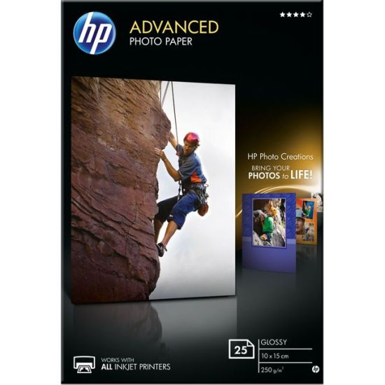 """HP Advanced Glossy Photo Paper-25 sht/10 x 15 cm Appliance Deals HP Advanced Glossy Photo Paper-25 sht/10 x 15 cm Shop & Save Today With The Best Appliance Deals Online at <a href=""""http://Appliance-Deals.com"""">Appliance-Deals.com</a>"""