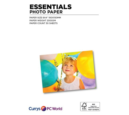 """ESSENTIALS 100 x 150 mm Photo Paper - 30 Sheets Appliance Deals ESSENTIALS 100 x 150 mm Photo Paper - 30 Sheets Shop & Save Today With The Best Appliance Deals Online at <a href=""""http://Appliance-Deals.com"""">Appliance-Deals.com</a>"""