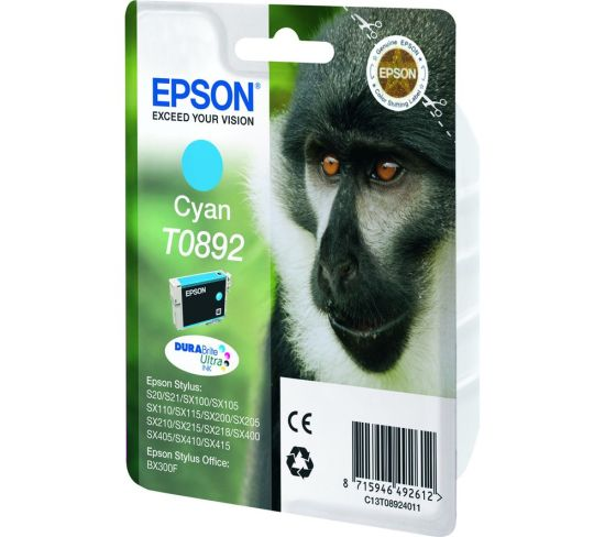 """EPSON Monkey T0892 Cyan Ink Cartridge, Cyan Appliance Deals EPSON Monkey T0892 Cyan Ink Cartridge, Cyan Shop & Save Today With The Best Appliance Deals Online at <a href=""""http://Appliance-Deals.com"""">Appliance-Deals.com</a>"""