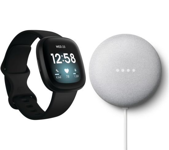 """FITBIT Versa 3 & Nest Mini (2nd Gen) Bundle - Black & Chalk, Black FITBIT Versa 3 & Nest Mini (2nd Gen) Bundle - Black & Chalk, Black Shop The Very Best FitBit Sale Deals Online at <a href=""""http://Appliance-Deals.com"""">Appliance-Deals.com</a> <a href=""""https://www.awin1.com/cread.php?awinmid=1599&awinaffid=792795&ued=https%3A%2F%2Fcurrys.co.uk""""><img class="""" wp-image-9780000159235 aligncenter"""" src=""""https://appliance-deals.com/wp-content/uploads/2021/03/curryspcworld_500x500_thumb.png"""" alt=""""fitbit Appliance Deals"""" width=""""112"""" height=""""112"""" /></a>"""
