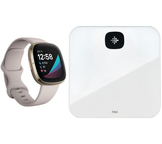 """FITBITSense & Aria Air Smart Scale Bundle - Lunar White & Soft Gold, White FITBITSense & Aria Air Smart Scale Bundle - Lunar White & Soft Gold, White Shop The Very Best FitBit Sale Deals Online at <a href=""""http://Appliance-Deals.com"""">Appliance-Deals.com</a> <a href=""""https://www.awin1.com/cread.php?awinmid=1599&awinaffid=792795&ued=https%3A%2F%2Fcurrys.co.uk""""><img class="""" wp-image-9780000159235 aligncenter"""" src=""""https://appliance-deals.com/wp-content/uploads/2021/03/curryspcworld_500x500_thumb.png"""" alt=""""fitbit Appliance Deals"""" width=""""112"""" height=""""112"""" /></a>"""