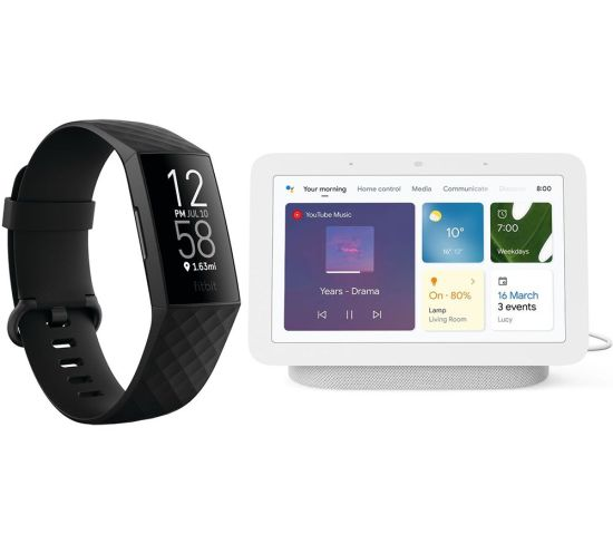 """FITBIT Charge 4 Fitness Tracker & Nest Hub (2nd Gen) Smart Display Bundle - Black & Chalk, Black FITBIT Charge 4 Fitness Tracker & Nest Hub (2nd Gen) Smart Display Bundle - Black & Chalk, Black Shop The Very Best FitBit Sale Deals Online at <a href=""""http://Appliance-Deals.com"""">Appliance-Deals.com</a> <a href=""""https://www.awin1.com/cread.php?awinmid=1599&awinaffid=792795&ued=https%3A%2F%2Fcurrys.co.uk""""><img class="""" wp-image-9780000159235 aligncenter"""" src=""""https://appliance-deals.com/wp-content/uploads/2021/03/curryspcworld_500x500_thumb.png"""" alt=""""fitbit Appliance Deals"""" width=""""112"""" height=""""112"""" /></a>"""