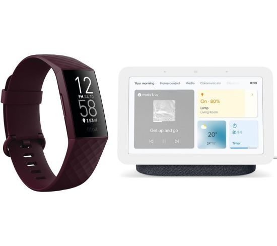 """FITBIT Charge 4 Fitness Tracker & Nest Hub (2nd Gen) Smart Display Bundle - Rosewood & Charcoal, Charcoal FITBIT Charge 4 Fitness Tracker & Nest Hub (2nd Gen) Smart Display Bundle - Rosewood & Charcoal, Charcoal Shop The Very Best FitBit Sale Deals Online at <a href=""""http://Appliance-Deals.com"""">Appliance-Deals.com</a> <a href=""""https://www.awin1.com/cread.php?awinmid=1599&awinaffid=792795&ued=https%3A%2F%2Fcurrys.co.uk""""><img class="""" wp-image-9780000159235 aligncenter"""" src=""""https://appliance-deals.com/wp-content/uploads/2021/03/curryspcworld_500x500_thumb.png"""" alt=""""fitbit Appliance Deals"""" width=""""112"""" height=""""112"""" /></a>"""