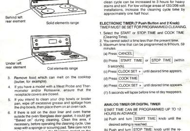 Kenmore Self Cleaning Instructions