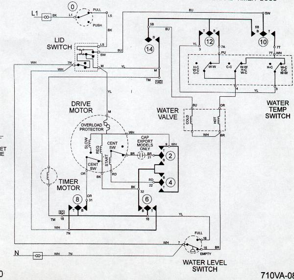 Maytag Dependable Care, new style Washer Wiring Diagram