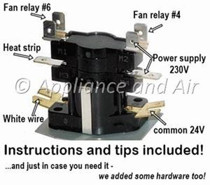Electric Furnace Sequencer Replacement Instructions for