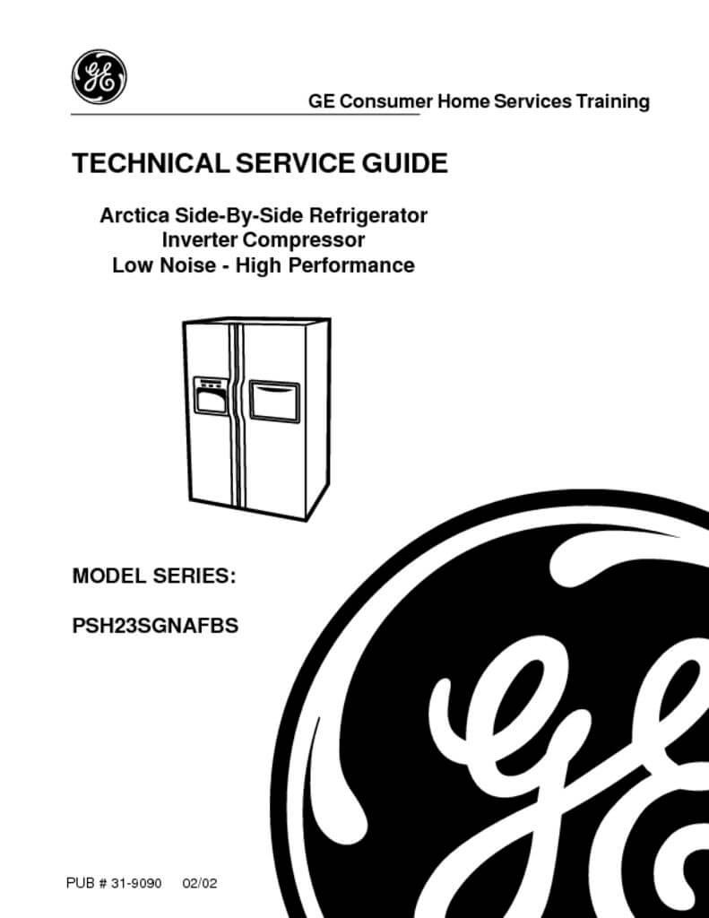 GE Arctica Refrigerator Service Manual