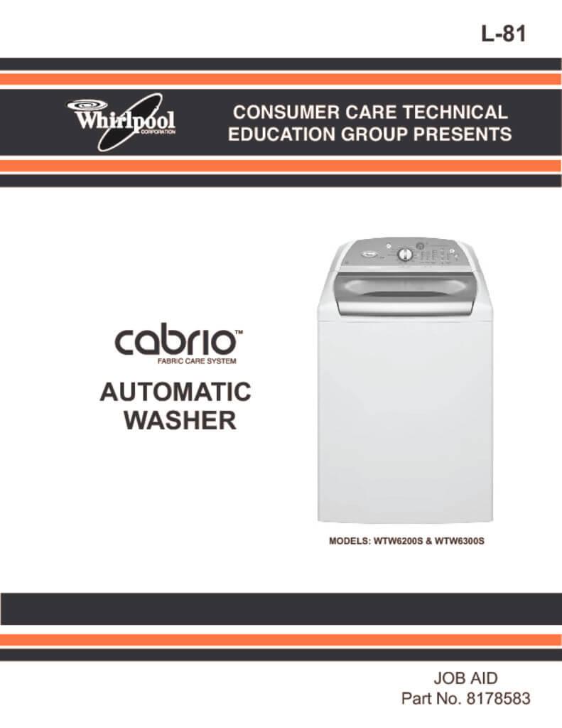 medium resolution of whirlpool cabrio washer service manual