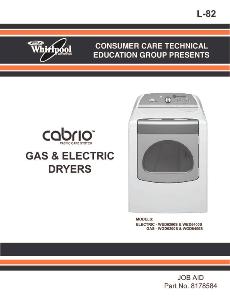 medium resolution of whirlpool cabrio dryer service manual