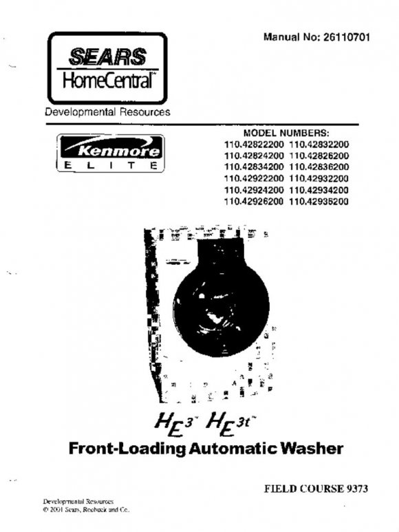 Washer Repair Manual