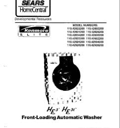 sears kenmore front loading he washer service manual [ 791 x 1024 Pixel ]