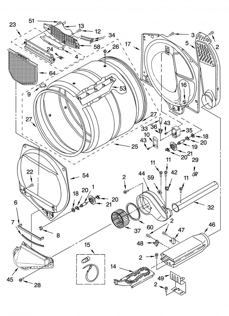 Kenmore Elite Dryer Parts Diagram : kenmore, elite, dryer, parts, diagram, FIXED, Kenmore, Elite, Model, 110.65962401, HEAT!, Applianceblog, Repair, Forums