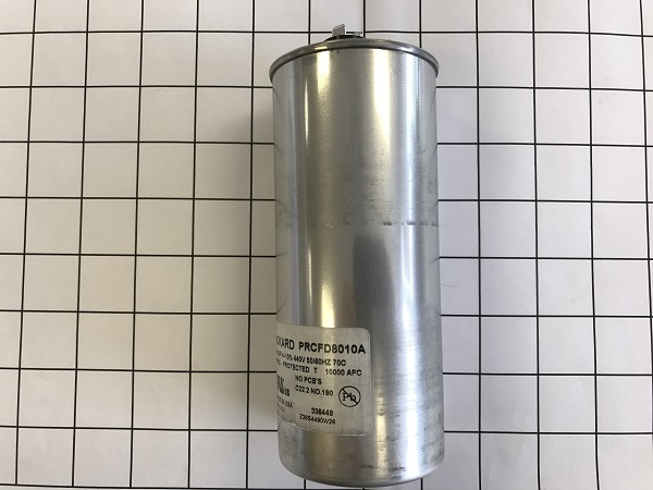 Packard part number PRCFD8010A Dual Run Capacitor 80+10MFD 440 VAC 80/10/440