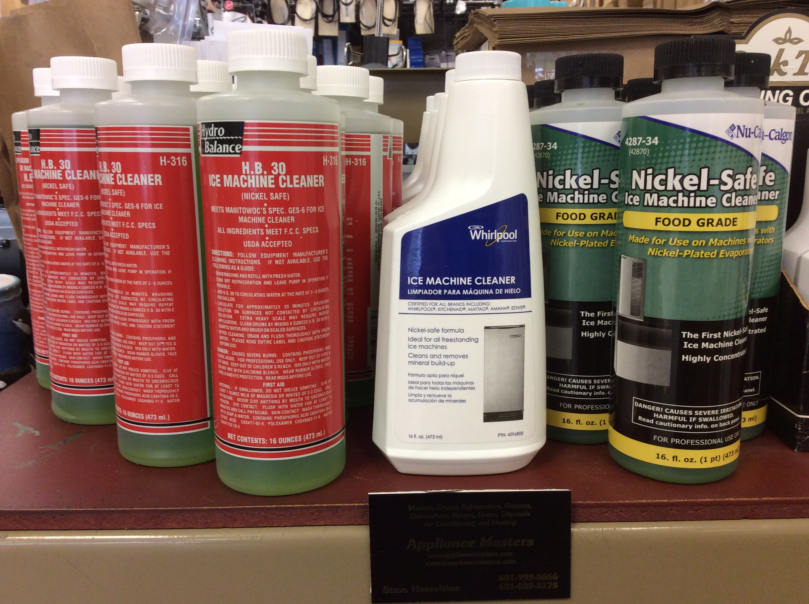 Ice Machine Parts plus Cleaners