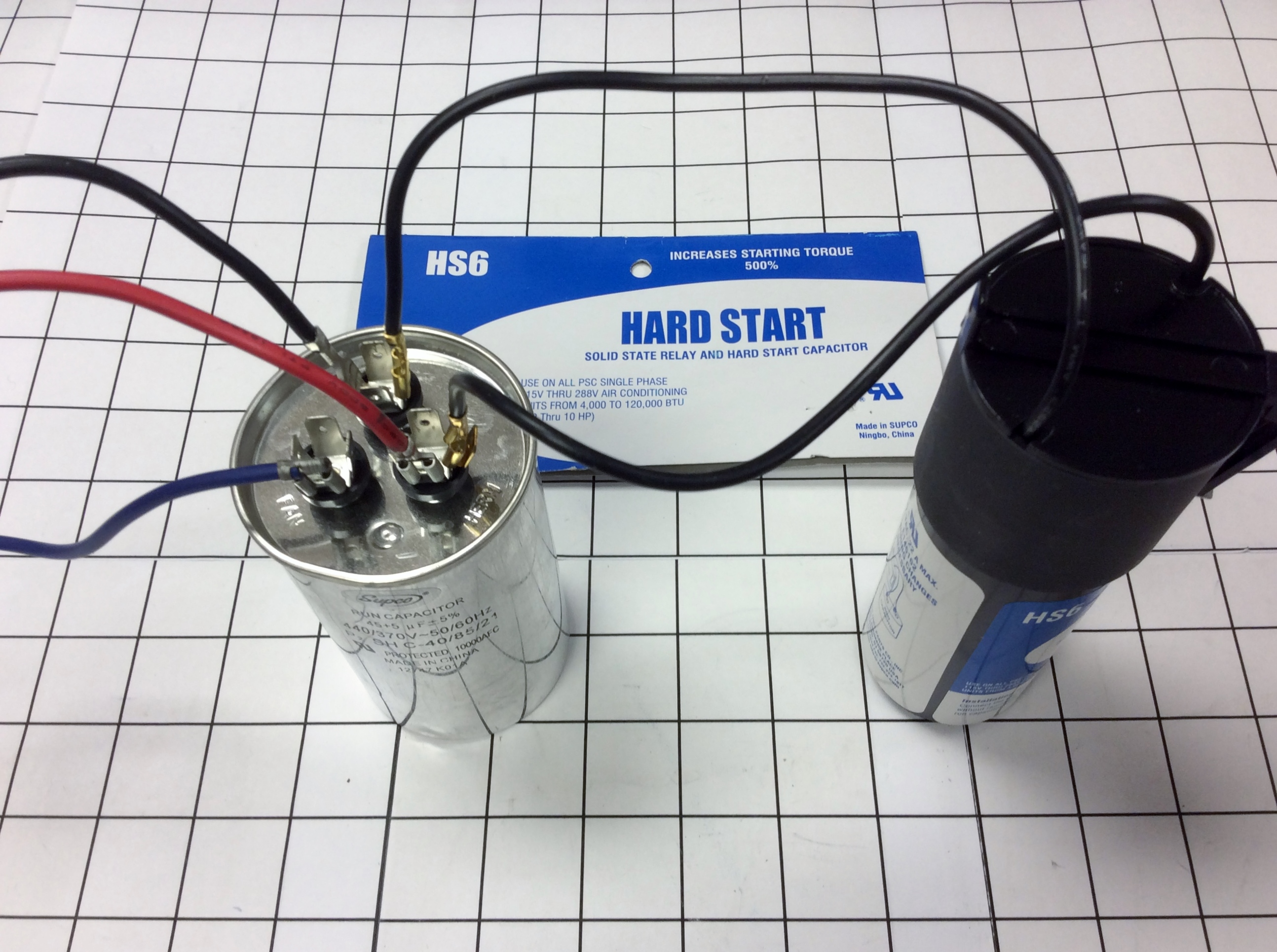 hard start capacitor wiring diagram 12 volt conversion hs6 supco spp6 super boost