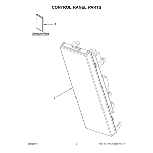 Whirlpool Microwave Control Panel Part # W11120684