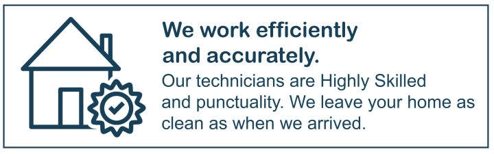 we work efficiently and accurately