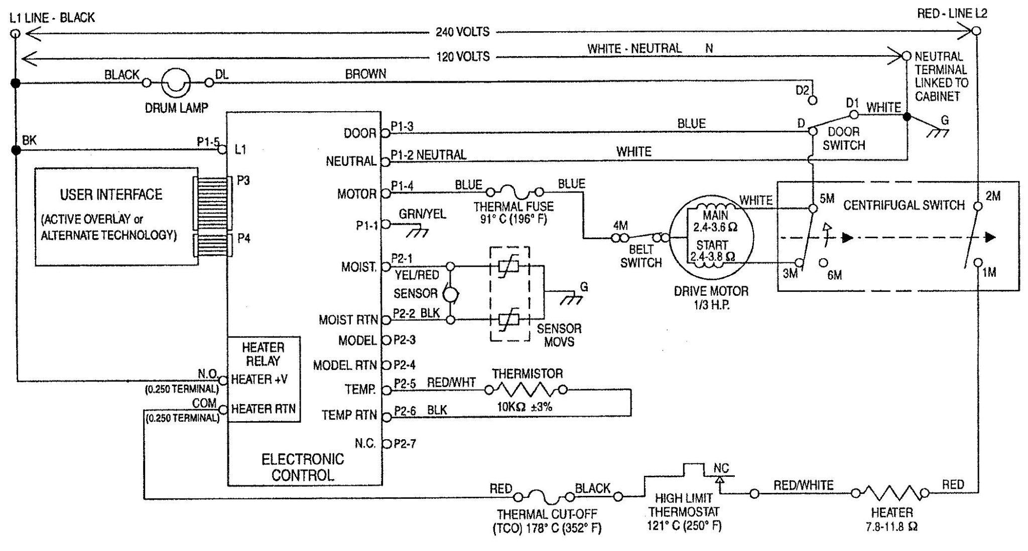 Wiring Diagram Dryer Switch