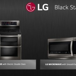 Lg Kitchen Appliance Packages Island With Drawers Stainless Steel Is Out Black In Appliances