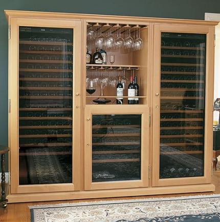 mahogany kitchen cabinets undermount sinks stainless steel triple elite custom wine cellar - eurocave performance 283 ...