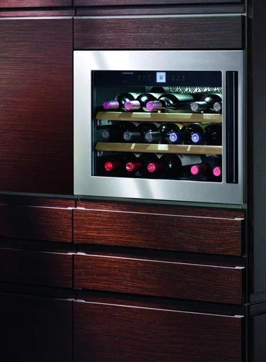 Integrated wine cooler from Liebherr  eye level wine cabinet