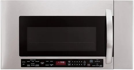 range microwave oven with warming lamp