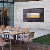 Napoleon linear outdoor gas fireplace