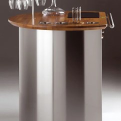 High Kitchen Table Set And Chairs Outdoor Wine Cart - Mobile Bar