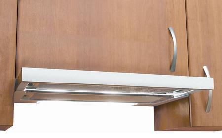 Slideout range hood  DeLonghi stainless steel slideout