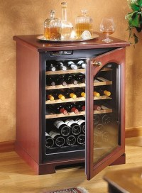 wood wine cooler cabinets