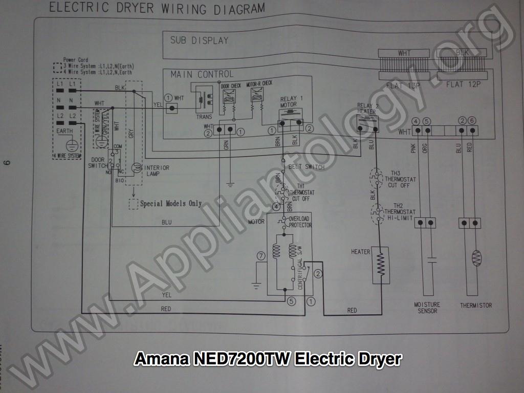 samsung electric dryer wiring diagram