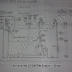 Electric Dryer Wiring Diagram Kenwood Excelon Ddx7015 Amana Ned7200tw Samsung Built