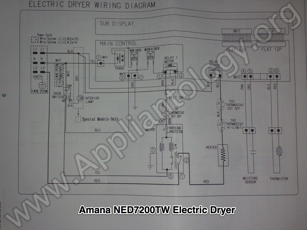 samsung dryer wiring diagram convert external regulator alternator internal amana ned7200tw built electric