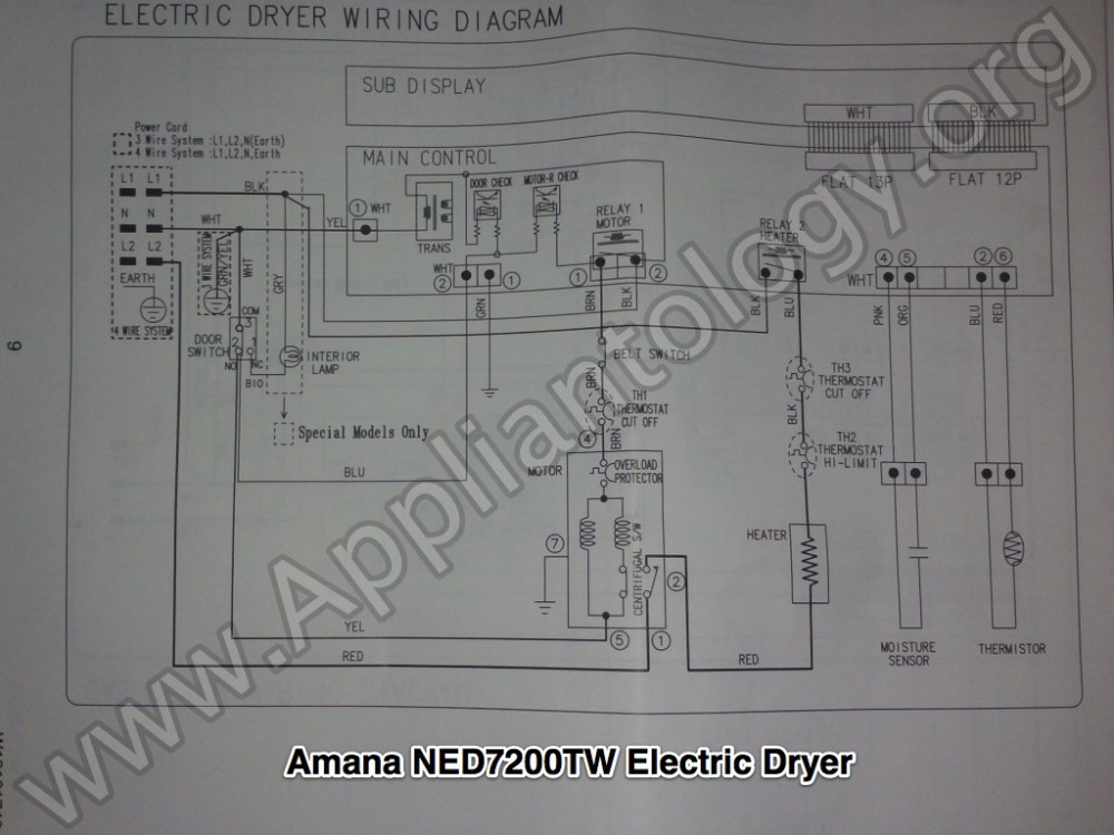medium resolution of amana ned7200tw samsung built electric dryer wiring diagram the amana wiring diagram refrigerator amana wiring diagrams