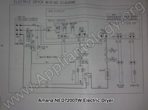 Amana NED7200TW (Samsung built) Electric Dryer Wiring