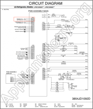 LG Refrigerator LRSC26910 Schematic Diagram  The