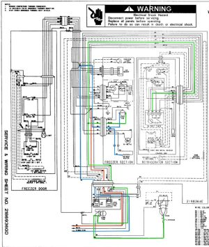 Whirlpool ED25RFXFW01 Refrigerator Wiring Diagram  The