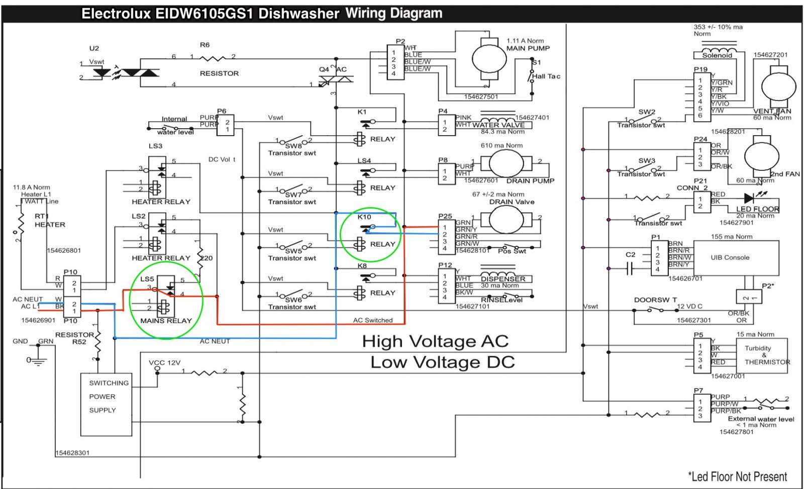electrolux wiring diagram 5 way trailer plug gmc eidw6105gs1 dishwasher the appliantology image tools