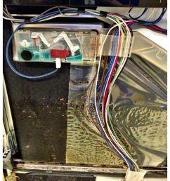leaking dispenser from a bosch dishwasher [ 907 x 1200 Pixel ]