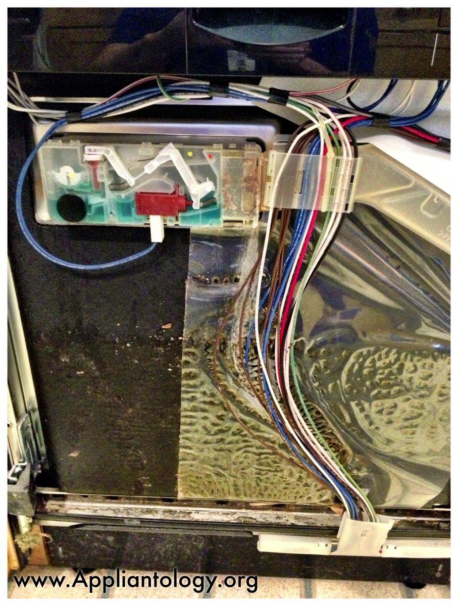 medium resolution of leaking dispenser from a bosch dishwasher