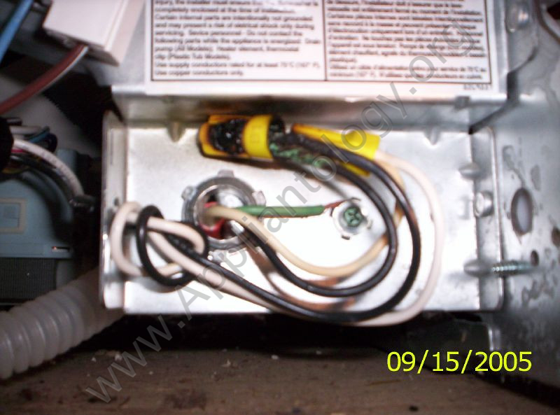 4 Wire Dryer Connection Diagram Burnt Power Wire Nuts In A Dishwasher Junction Box The