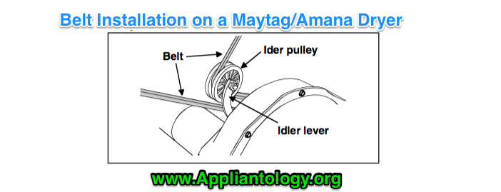 Dryer Maytag Dg712 Schematic How To Install A Belt For A Maytag