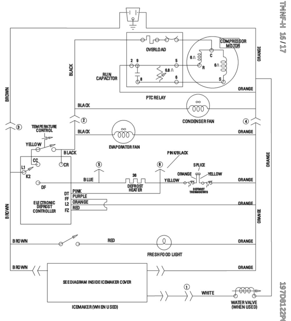 medium resolution of ge profile refrigerator wiring schematic wire diagram for refrigerator refrigerator compressor diagram wire diagram for ge